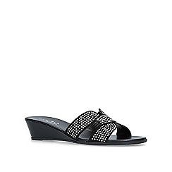 Carvela Comfort - Black 'Sade' low heel wedge sandals