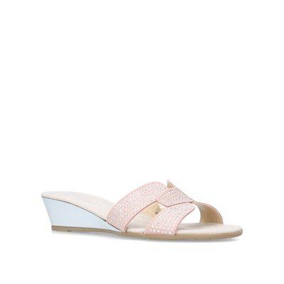 Carvela Comfort - Nude 'Sade' low heel wedge sandals