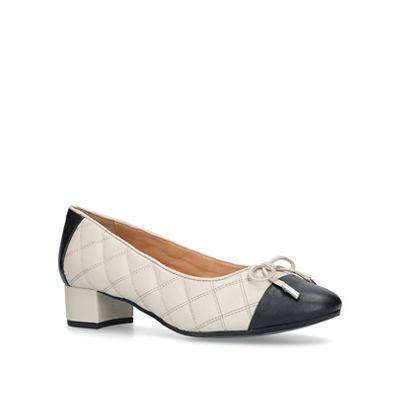 Carvela Comfort - Nude 'Alyssa' low heel court shoes