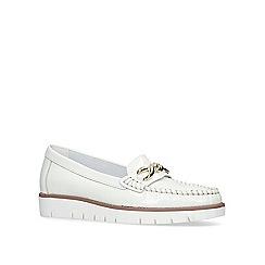 Carvela Comfort - White 'Casper' slip on loafers