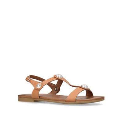 Carvela Comfort - Tan 'Saz' flat sandals