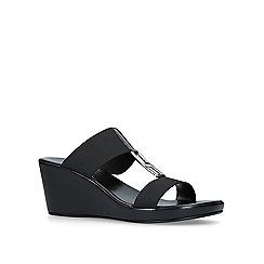 Carvela Comfort - Black 'Sally' mid heel sandals