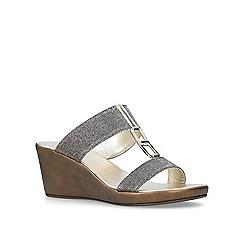 Carvela Comfort - Metallic 'Sally' mid heel sandals