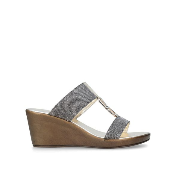 heel mid Carvela Metallic 'Sally' sandals Comfort OqqvI86