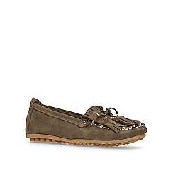 Carvela Comfort - Khaki 'Cynthia' flat loafers