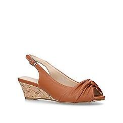 Carvela Comfort - Tan 'Ace' low wedge sandals