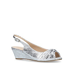 Carvela Comfort - Silver 'Ace' low wedge sandals
