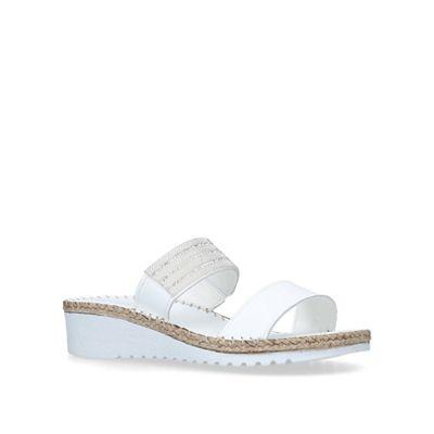 Carvela Comfort - - - White 'Sash' leather wedges 1b0dc7