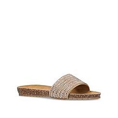 Carvela Comfort - Bronze 'Super' flat sliders