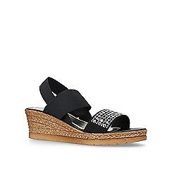 Carvela Comfort - Black 'Summer' mid heel wedge sandals