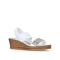 Carvela Comfort - White 'Summer' mid heel wedge sandals