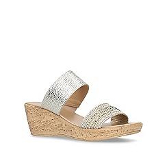 Carvela Comfort - Beige 'Saskia' mid heel wedge sandals