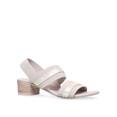Carvela Comfort - Taupe 'Soon' mid heel sandals