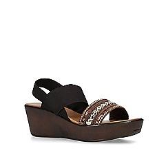 Carvela Comfort - Brown 'Seyla' mid heel wedge sandals