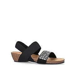 Carvela Comfort - Black 'Sink' mid heel wedge sandals
