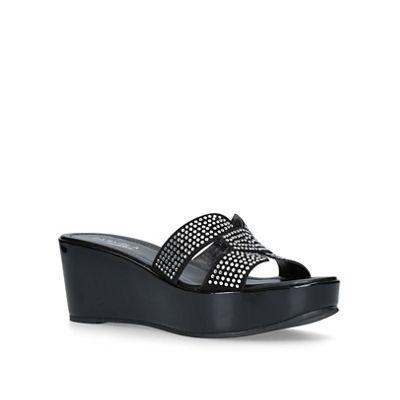 Carvela Comfort - Black 'Shelby' heeled sandals