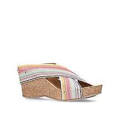 Carvela Comfort - Multi-colored 'Sully' mid heel wedge sandals