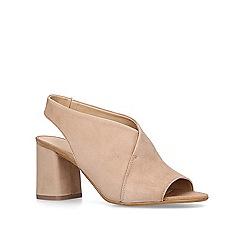 Carvela - 'Andor' slingback suedette mule peep toe sandals