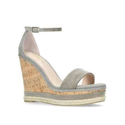 Carvela - Grey 'Could' high wedge sandals
