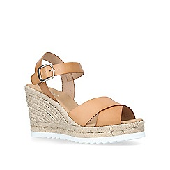 Carvela - Tan 'Koi' high wedge sandals