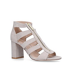 Miss KG - Taupe 'Fate' mid heel sandals