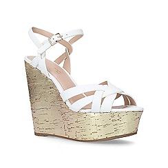 Miss KG - White 'Flame' high heel wedge sandals