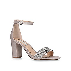 Miss KG - Nude 'Cadey' mid heel sandals