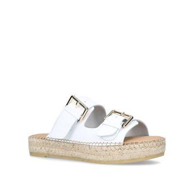 Carvela - White 'Clever' flat sandals