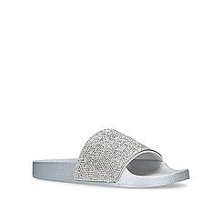 Miss KG - Metallic 'Diamond' silver sliders