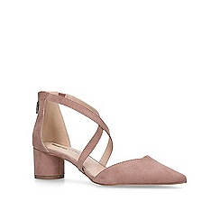 Miss KG - Nude 'Angel' low heel court shoes