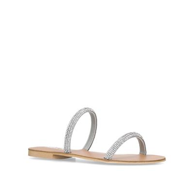 Miss Kg   Silver 'royal' Flat Sandals by Miss Kg
