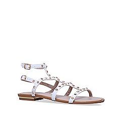 Carvela - White 'Banker' flat sandals