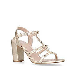 Carvela - Gold 'Kansas' mid heel sandals