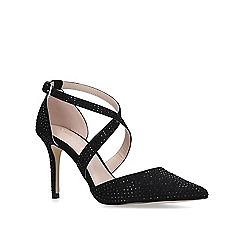 Carvela - Black 'Kross Jewel' mid heel court shoes