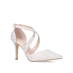 Carvela - Nude 'Kross Jewel' mid heel strappy court shoes