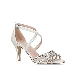 Carvela - Silver 'Laurel' mid heel sandals