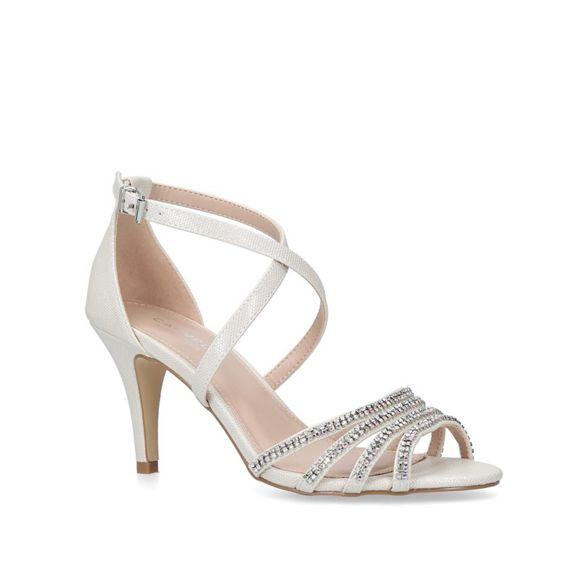 heel 'Laurel' Silver mid Carvela sandals qpTSywxa