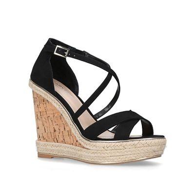Carvela - Black 'Sublime' high heel wedge sandals