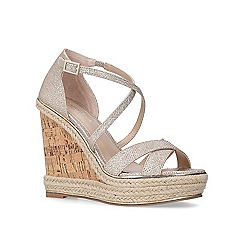 Carvela - Metallic 'Sublime' gold high heel wedge sandals