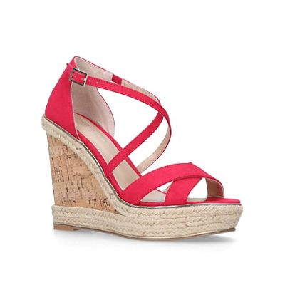 Carvela - Pink 'Sublime' high heel wedge sandals sandals sandals 1802f0