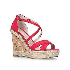 Carvela - Pink 'Sublime' high heel wedge sandals