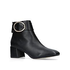 Miss KG - Black 'Senorita' mid heel ankle boots
