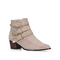 Miss KG - Taupe 'Tiger' mid heel ankle boots