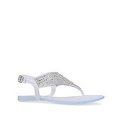 Miss KG - Silver 'Rabiya' flat sandals
