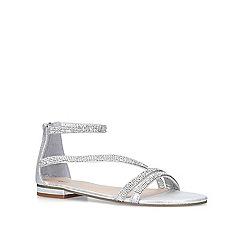 Miss KG - Silver 'Ren' flat sandals