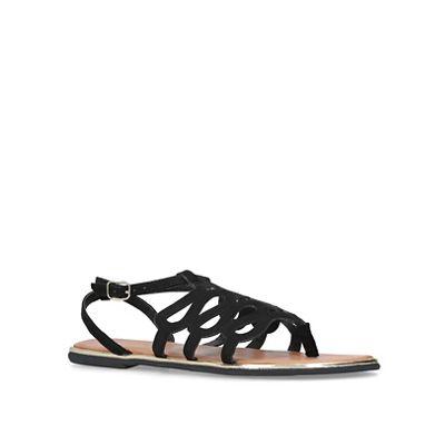 Miss KG - Black 'Ramiro' flat sandals