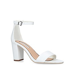 Miss KG - White 'Pearl' high heel sandals