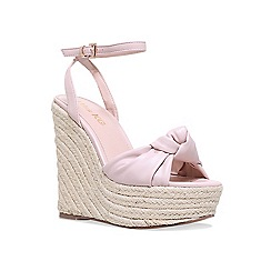 Miss KG - Nude 'Piper' high heel wedge sandals