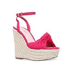 Miss KG - Pink 'Piper' high heel wedge sandals