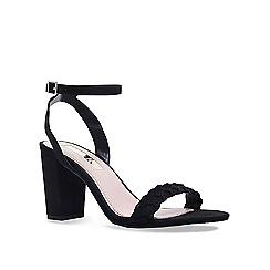 Miss KG - Black 'Priscilla' low heel sandals